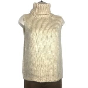 KORS Micheal Kors 100% Wool Sleeveless Turtleneck